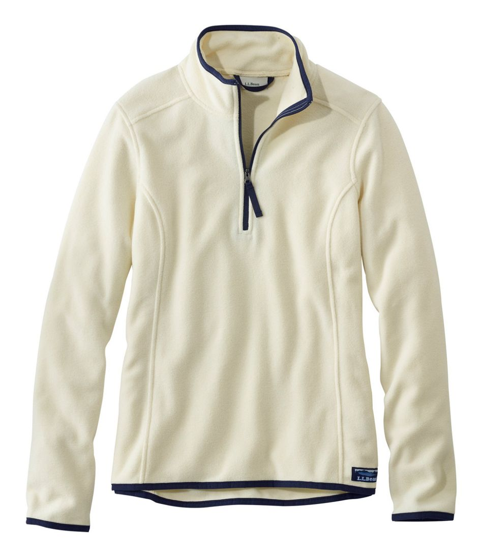 Soft-Brushed Fitness Fleece Pullover, Quarter-Zip