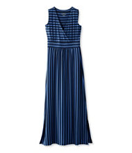 Summer Knit Maxi Dress, Stripe