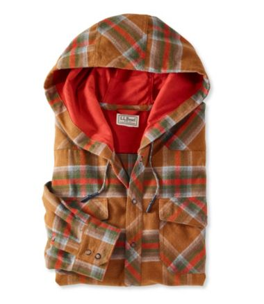 Overland Performance Flannel Shirt, Hooded