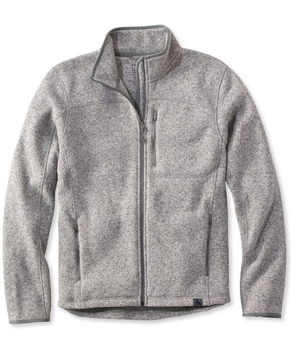 Bean's Sweater Fleece, Full-Zip Jacket, Grey Heather, large image number 0