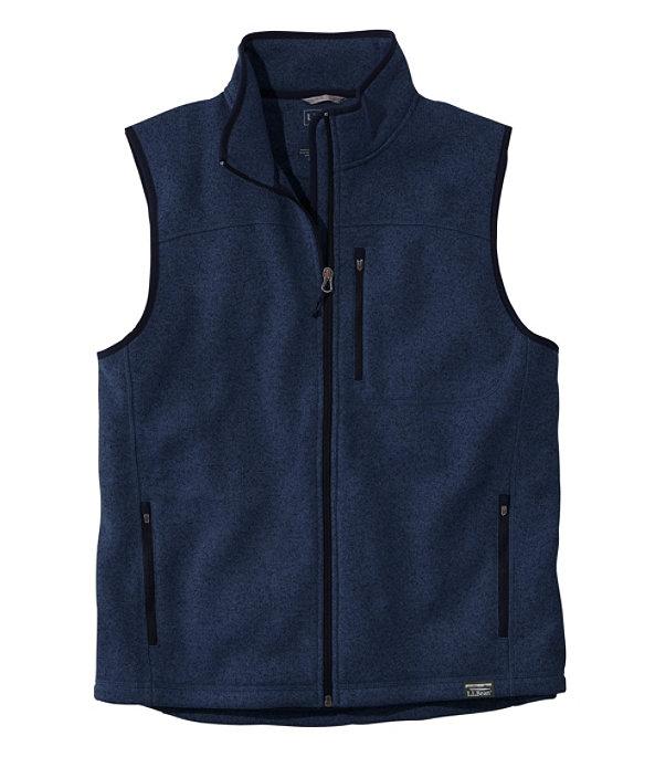 Sweater Fleece Vest, Bright Navy, large image number 0