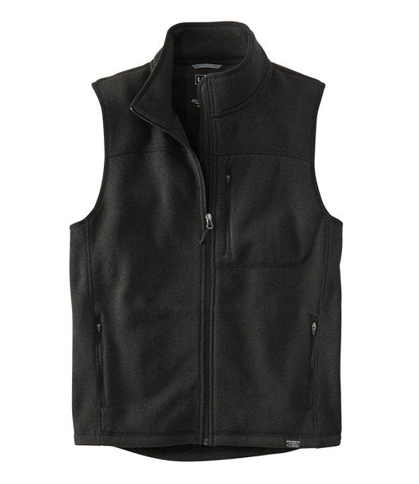Sweater Fleece Vest, Classic Black, large image number 0