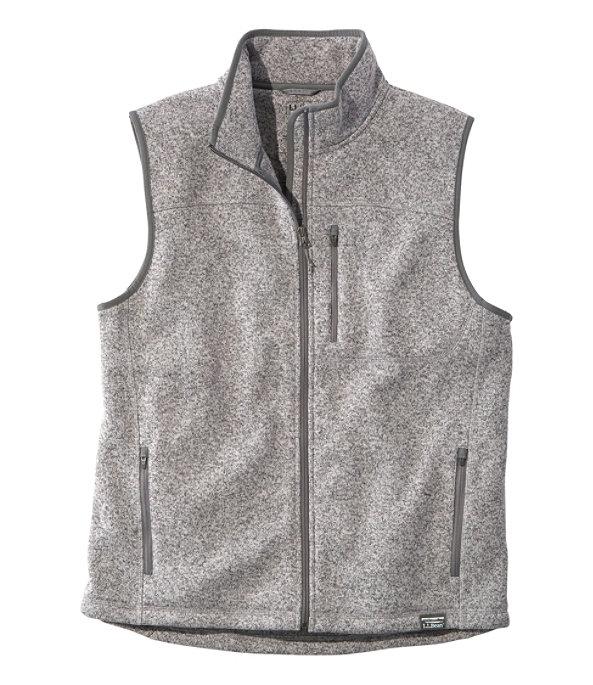 Sweater Fleece Vest, Grey Heather, large image number 0