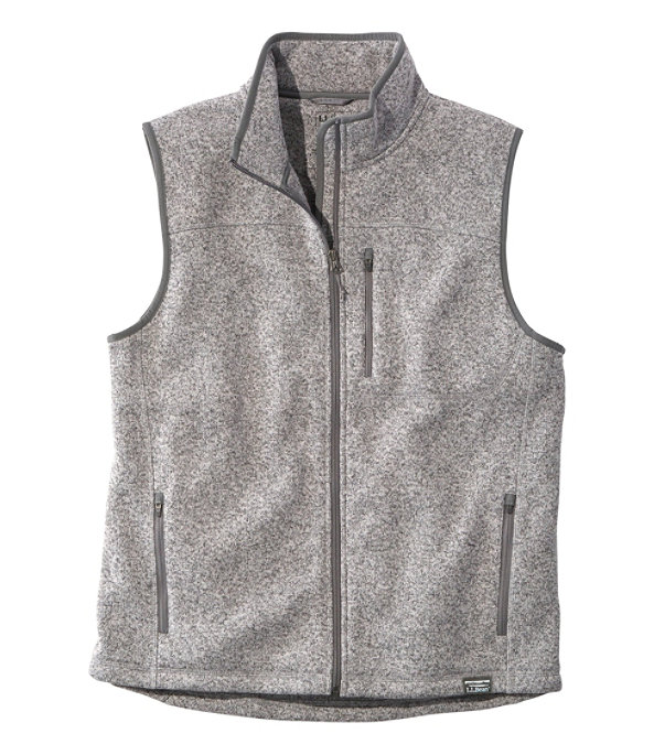 Sweater Fleece Vest, Grey Heather, large image number 0