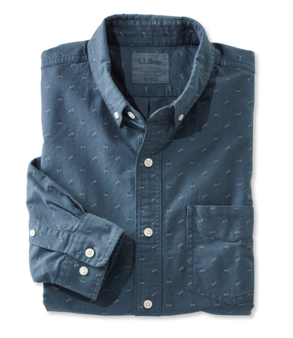 Lakewashed Sport Shirt, Slightly Fitted Print