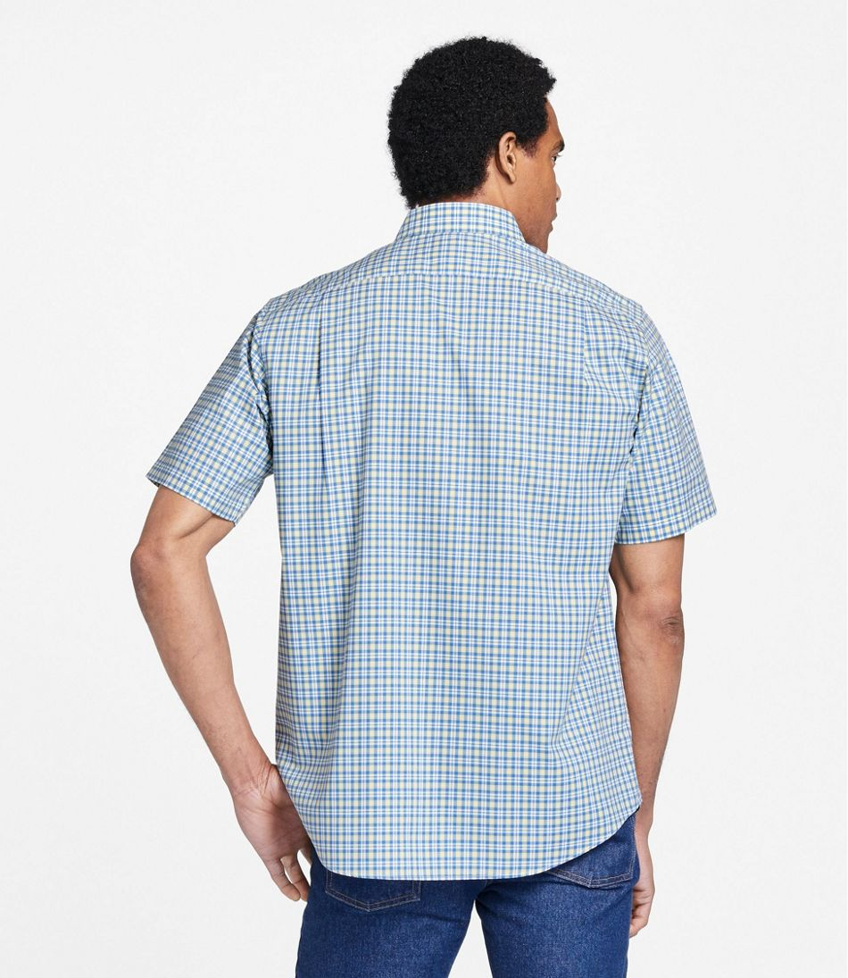 Men's Wrinkle-Free Kennebunk Sport Shirt, Traditional Fit Short-Sleeve Check