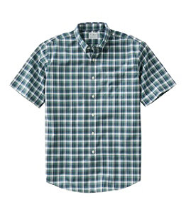 Men's Wrinkle-Free Kennebunk Sport Shirt, Traditional Fit Short-Sleeve Check