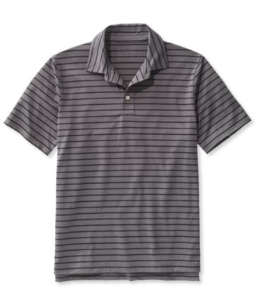 L.L.Bean Stretch Polo Shirt, Slightly Fitted Short-Sleeve Stripe