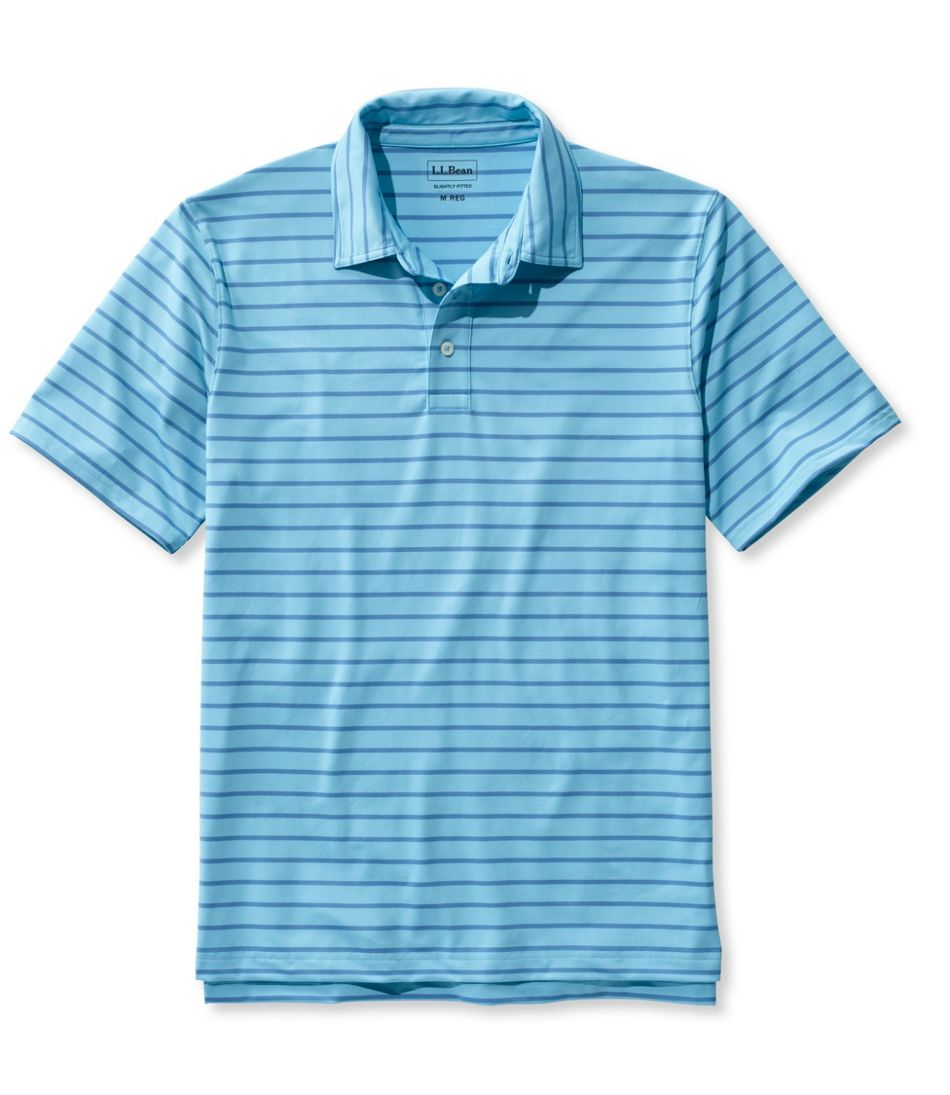 Llan Stretch Polo Shirt Slightly Fitted Short Sleeve Stripe
