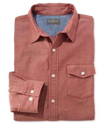 Signature Herringbone Twill Shirt, Long-Sleeve