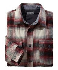 Signature Quilted Chamois Shirt, Slim-Fit Plaid