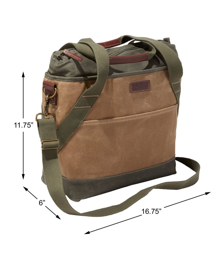 Insulated Waxed-Canvas Tote, Medium