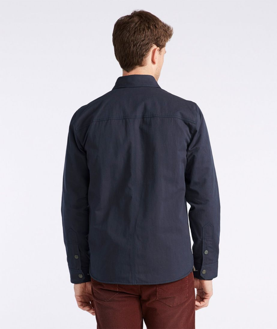 Signature Nylon-Blend Lined Shirt Jacket, Slim Fit