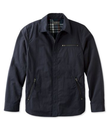 Signature Nylon-Blend Lined Shirt Jacket, Slim Fit