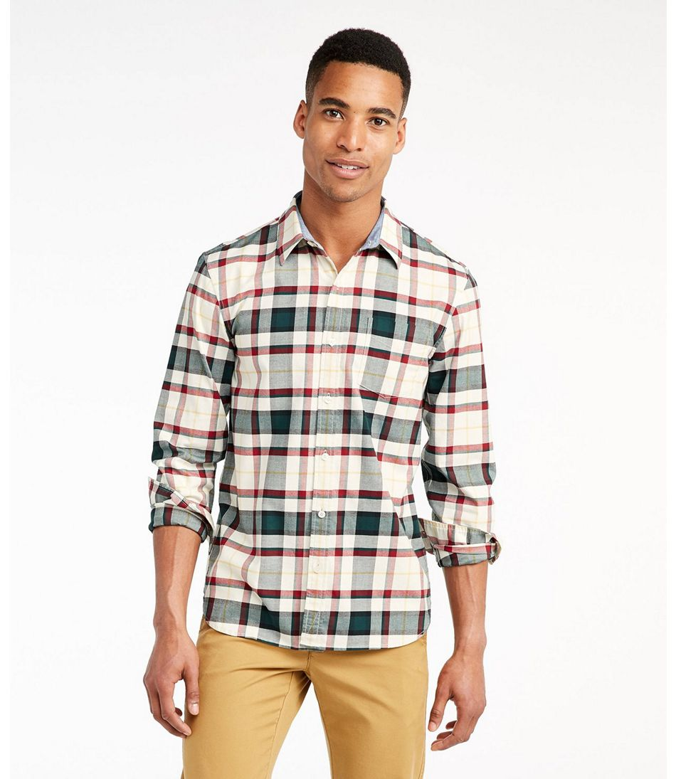 Signature Stretch Flannel Shirt, Slimmest Fit Plaid