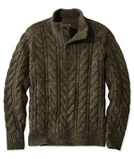 Signature Mapleton Sweater, Stand Collar Henley