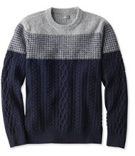 Signature Mixed-Stitch Donegal Sweater