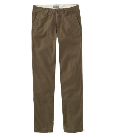 Signature Washed Canvas Cloth Pants, Slim Straight Lined