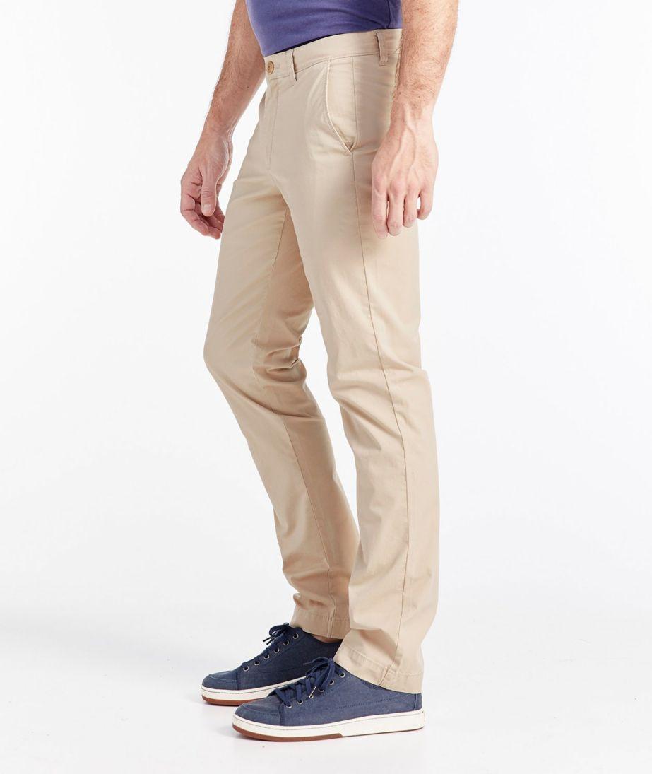Signature Twill Chino Pants with Stretch, Slim Straight