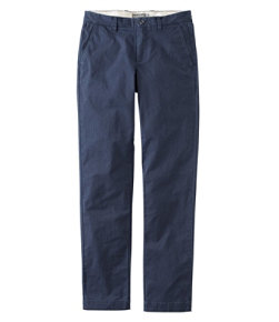 Signature Twill Chino Pants with Stretch, Slim Straight