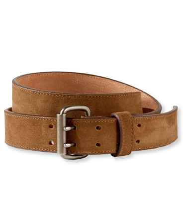 Men's Double-Prong Suede Belt