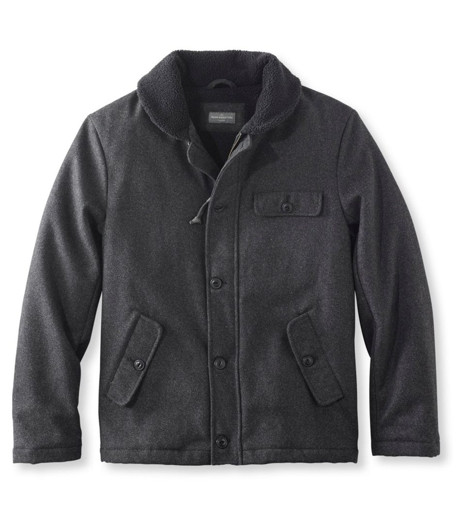 3cb8d1758ea3 Signature Sherpa-Lined Wool-Blend Jacket