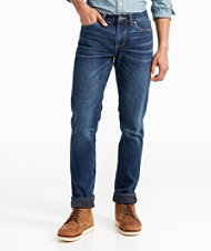 Signature Five-Pocket Jeans with Stretch, Slim Straight Lined