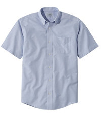 Men's Wrinkle-Free Classic Oxford Shirt, Short-Sleeve