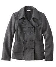 Signature Wool Peacoat Misses