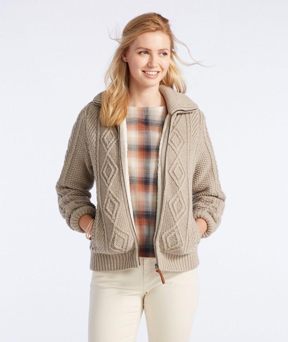 Signature Lined Fisherman Sweater Jacket