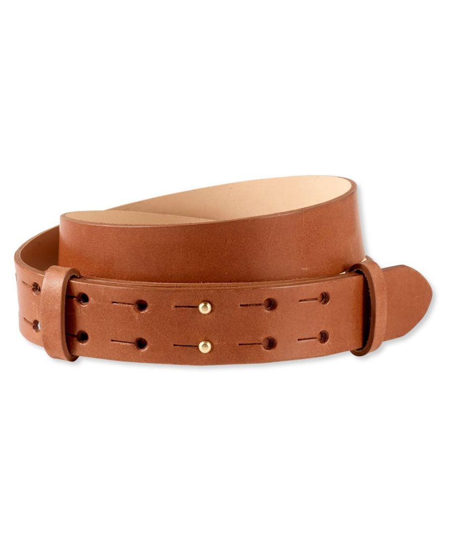 Signature Double-Post Leather Belt