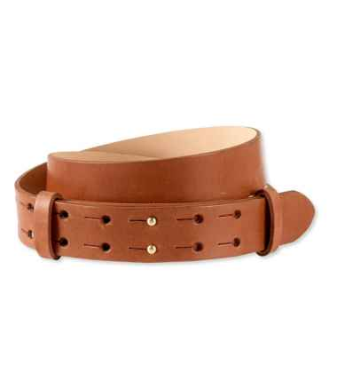 Signature Double-Post Leather Belt