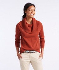 Signature Fine-Gauge Cotton/Cashmere Funnelneck Sweater