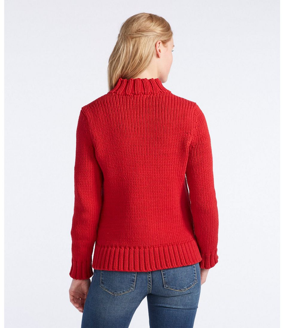 Signature Chunky Knit Mockneck Sweater