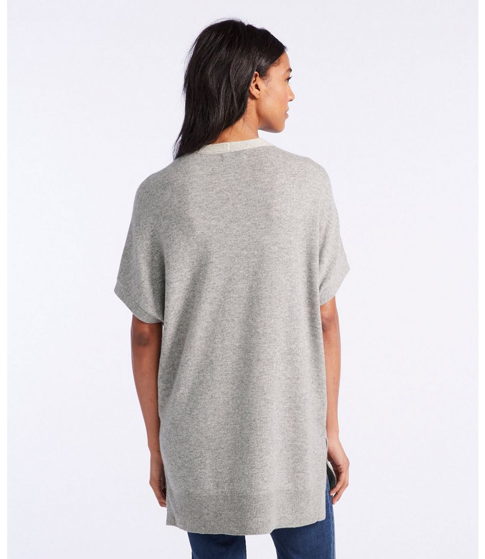 Signature Cashmere V-Neck Tunic Sweater