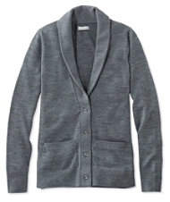 Signature Washable Merino Shawl-Collar Cardigan