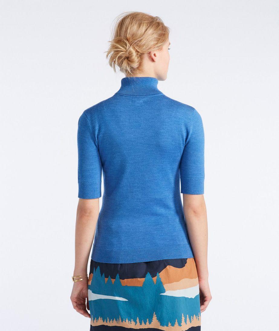 Women's Signature Washable Merino Elbow-Sleeve Turtleneck