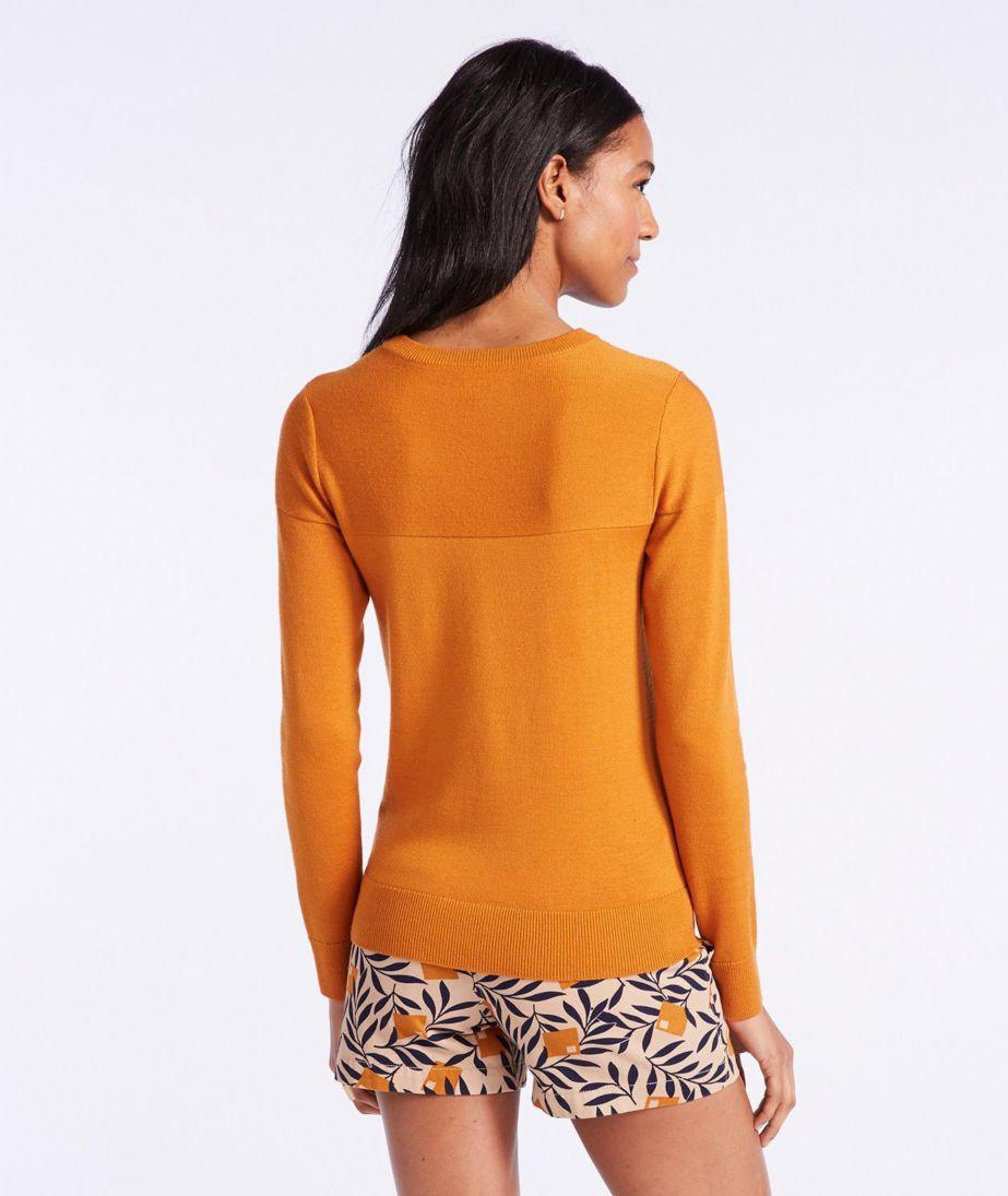 Signature Washable Merino Textured Crewneck Sweater