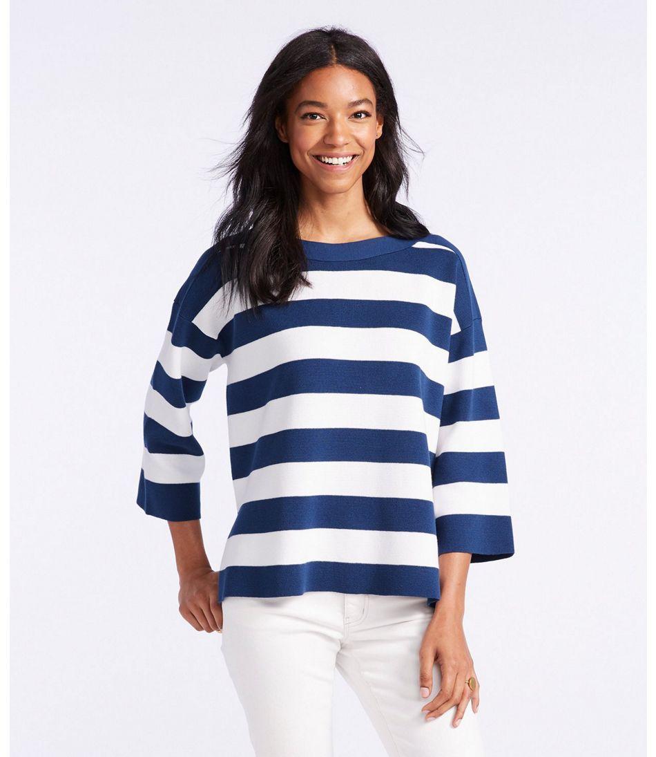Signature Striped Boatneck Sweater