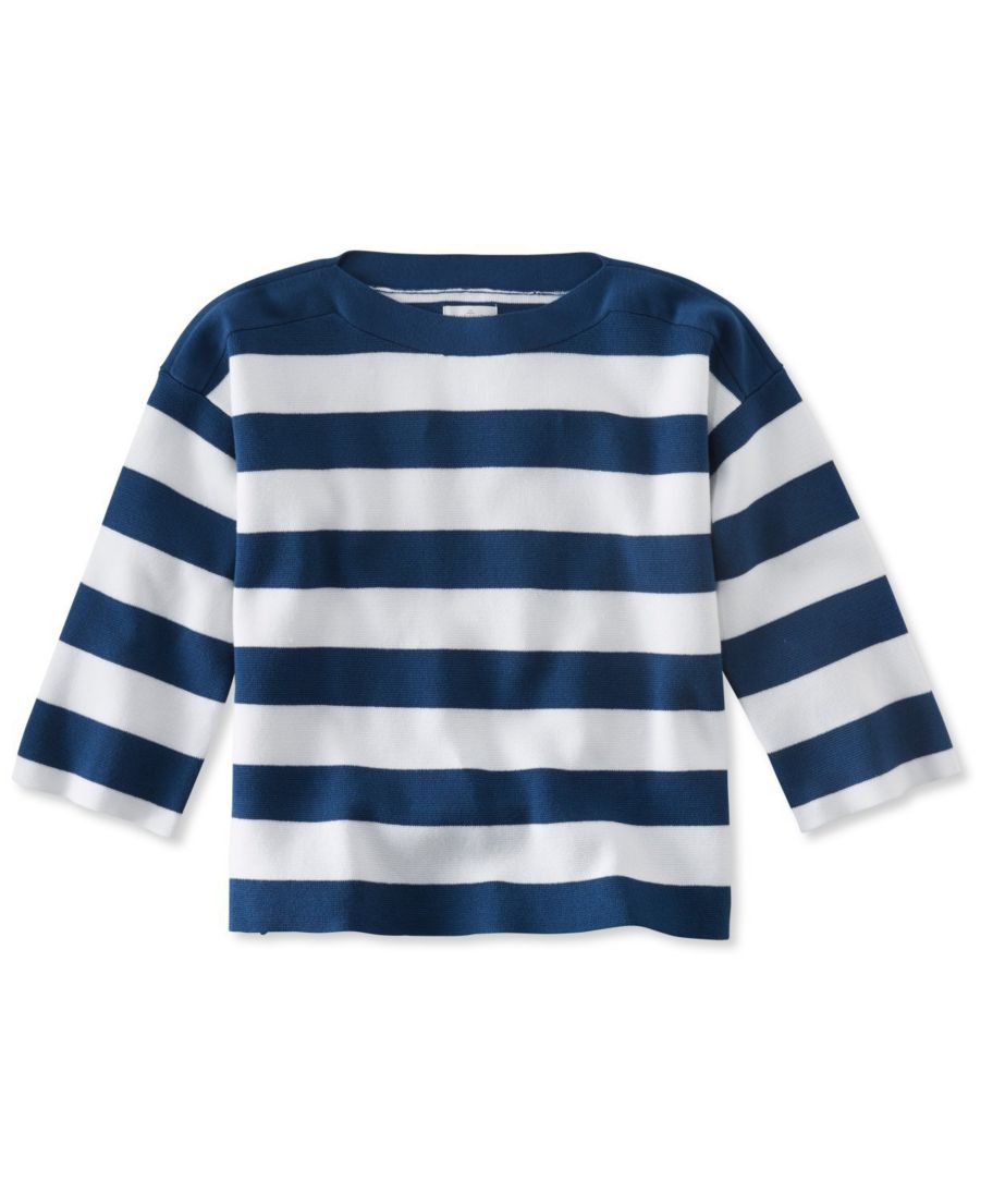 Signature Striped Boatneck Sweater