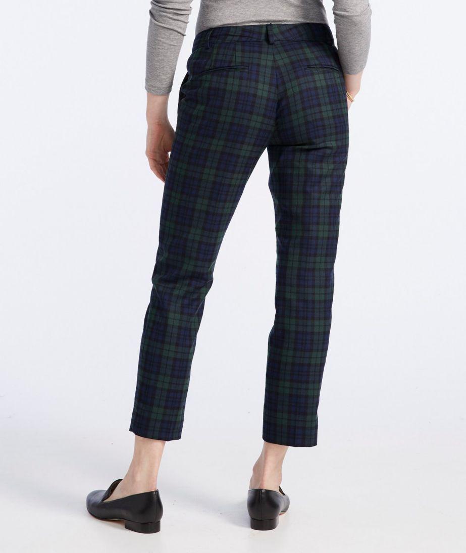 Signature Skinny Wool Trousers, Plaid