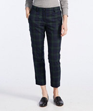 Signature Skinny Wool Trousers, Plaid