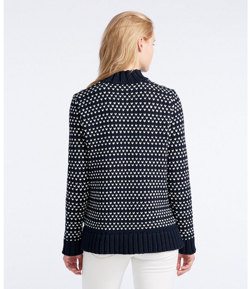 Women's Signature Chunky Knit Mockneck Sweater, Bird's-Eye