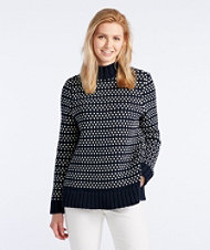Signature Chunky Knit Mockneck Sweater, Bird's-Eye