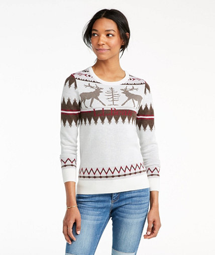 Women's Signature Merino Textured Crewneck Sweater, Fair Isle ...