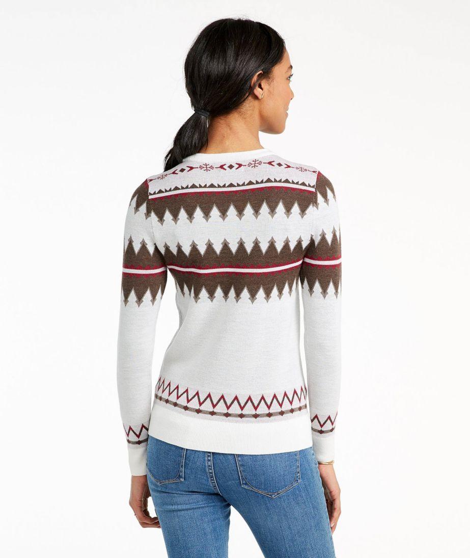 Signature Merino Textured Crewneck Sweater, Fair Isle