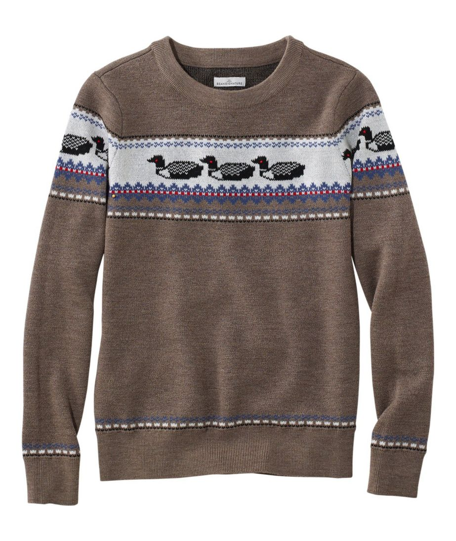 Signature Merino Textured Crewneck Sweater Fair Isle