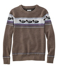 Signature Merino Textured Crewneck Sweater, Fair Isle