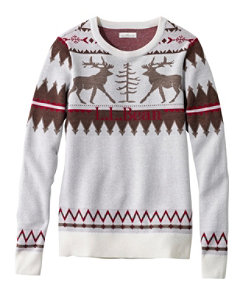 Women's Signature Merino Textured Crewneck Sweater, Fair Isle