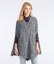 Signature Fisherman Poncho, Marled